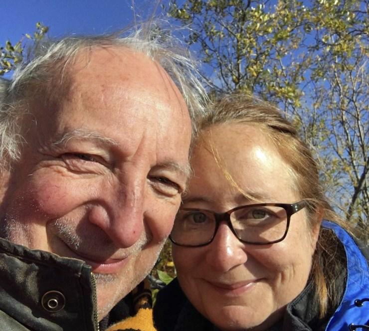 Natasha George and Fred Richings waiting for a moose at Nanuk.