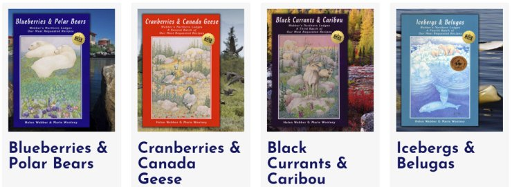 The Blueberries & Polar Bears cookbook series.