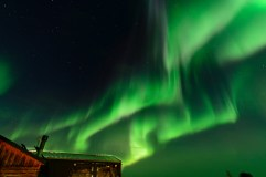 Northern lights over Dymond Lake Ecolodge. Henry Altszuler photo.