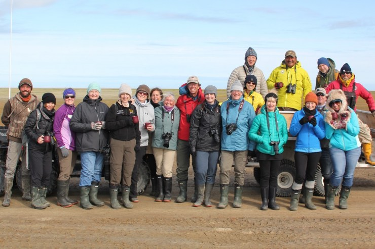 Happy dresser uppers at Nanuk Polar Bear Lodge. Colourful too! Nancy Herter photo.