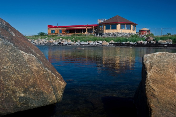 Seal River Heritage Lodge on a beautiful summer day.