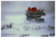 Into the snowy wild. Nanuk Polar Bear Lodge. Peter Hall photo.