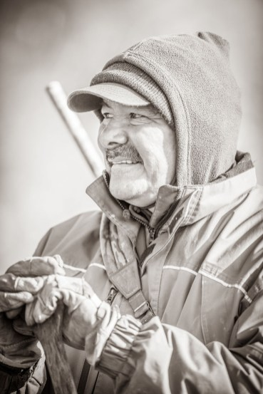 "Polar Bear Guide. Albert ""Butch"" Saunders. Nanuk Polar Bear Lodge. Jad Davenport photo."