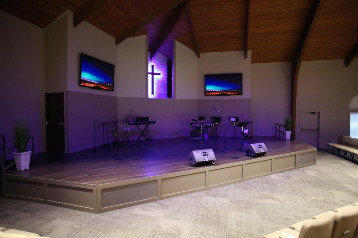 2nd mile church stage design church
