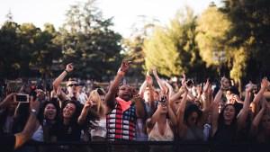 Concert crowd worship