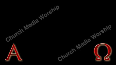 Alpha and Omega Red Christian Worship Background. High quality worship images for use to spread the Gospel and enhance the worship experience.