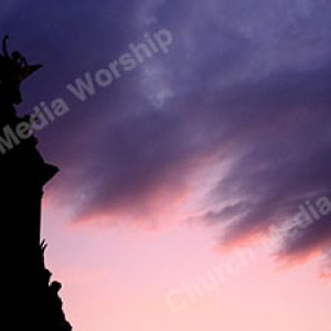 Angel in Sunset Christian Worship Background. High quality worship images for use to spread the Gospel and enhance the worship experience.