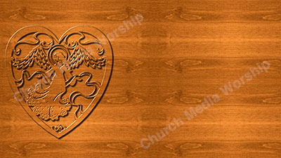 Angel of Love Wood on Wood Christian Worship Background. High quality worship images for use to spread the Gospel and enhance the worship experience.