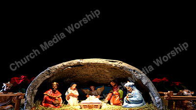 Away In a Manger Christian Worship Background. High quality worship images for use to spread the Gospel and enhance the worship experience.
