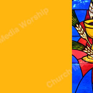 Bread and wine stained glass Gold Christian Worship Background. High quality worship images for use to spread the Gospel and enhance the worship experience.