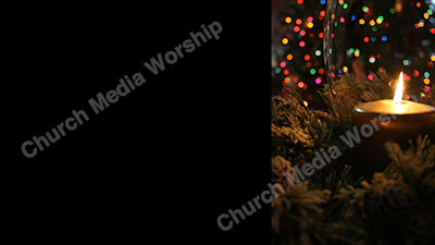 Christmas Lights Christian Worship Background. High quality worship images for use to spread the Gospel and enhance the worship experience.