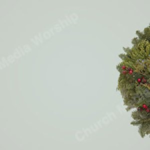 Christmas Wreath Christian Worship Background. High quality worship images for use to spread the Gospel and enhance the worship experience.