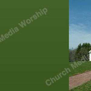 Church on a hill Green Background Image HD Christian Worship Background. High quality worship images for use to spread the Gospel and enhance the worship.