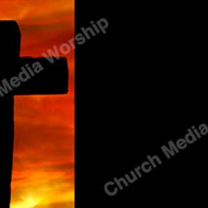 Cross with fire sky Black Christian Worship Background. High quality worship images for use to spread the Gospel and enhance the worship experience.