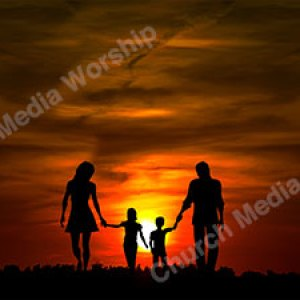 Family worshipping God Christian Worship Background. High quality worship images for use to spread the Gospel and enhance the worship experience.