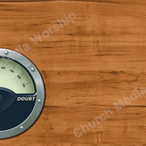 Gauge Master Faith Doubt Left Christian Worship Background. High quality worship images for use to spread the Gospel and enhance the worship experience.