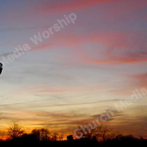 Gentle Shepherd silhouette Christian Worship Background. High quality worship images for use to spread the Gospel and enhance the worship experience.