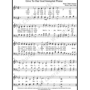 Give to our God immortal praise Sheet Music (SATB) Make unlimited copies of sheet music and the practice music.