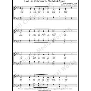 God be with you Sheet Music (SATB) Make unlimited copies of sheet music and the practice music.
