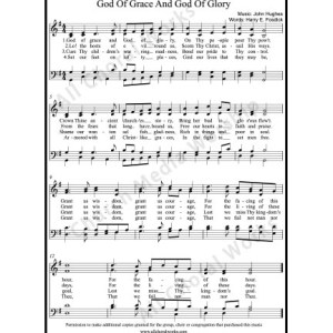 God of grace and God of glory Sheet Music (SATB) Make unlimited copies of sheet music and the practice music.