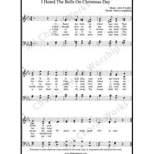 I Heard the Bells On Christmas Day Sheet Music (SATB) Make unlimited copies of sheet music and the practice music.
