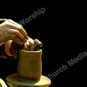I am the Potter Black Christian Worship Background. High quality worship images for use to spread the Gospel and enhance the worship experience.