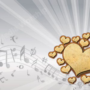 I Love Music Gold Christian Worship Background. High quality worship images for use to spread the Gospel and enhance the worship experience.
