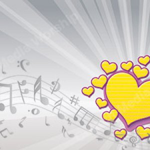 I Love Music Yellow Christian Worship Background. High quality worship images for use to spread the Gospel and enhance the worship experience.