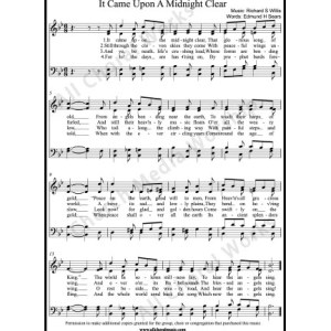 It Came Upon A Midnight Clear Sheet Music (SATB) Make unlimited copies of sheet music and the practice music.