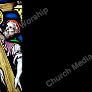 Jesus Carries Cross Black Christian Worship Background. High quality worship images for use to spread the Gospel and enhance the worship experience.