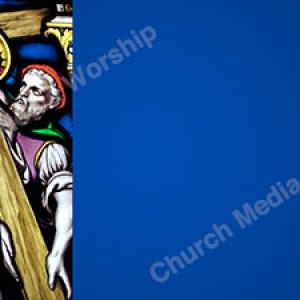 Jesus Carries Cross Blue Christian Worship Background. High quality worship images for use to spread the Gospel and enhance the worship experience.