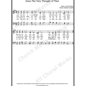 Jesus the very thought of thee Sheet Music (SATB) Make unlimited copies of sheet music and the practice music.