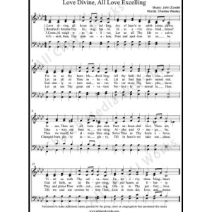 Love divine all love excelling Sheet Music (SATB) Make unlimited copies of sheet music and the practice music.