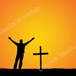 Man in worship silhouette Christian Worship Background. High quality worship images for use to spread the Gospel and enhance the worship experience.