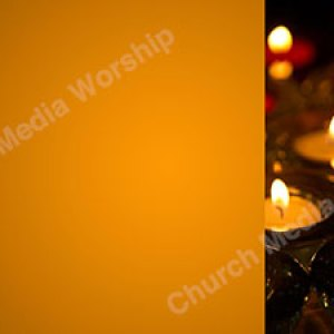 Multiple candle V1 Orange Christian Worship Background. High quality worship images for use to spread the Gospel and enhance the worship experience.