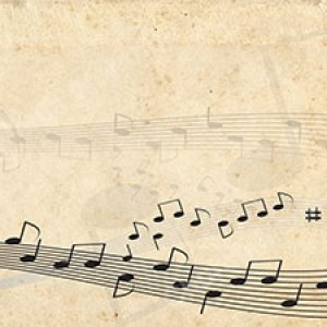 Musical notes across the page light paper Christian Worship Background. High quality worship images for use to spread the Gospel and enhance the worship.