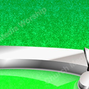 Music Note green Christian Worship Background. High quality worship images for use to spread the Gospel and enhance the worship experience.