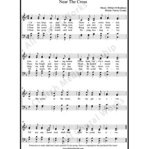 Near the cross Sheet Music (SATB) Make unlimited copies of sheet music and the practice music.