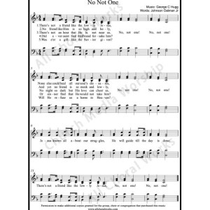 No not one Sheet Music (SATB) Make unlimited copies of sheet music and the practice music.