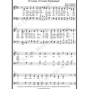 O Come O Come Emmanuel Sheet Music (SATB) Make unlimited copies of sheet music and the practice music.