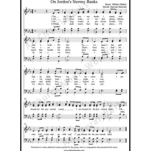 On Jordans stormy banks Sheet Music (SATB) Make unlimited copies of sheet music and the practice music.