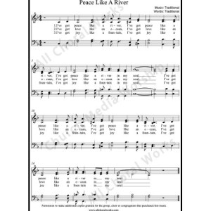 Peace like a river Sheet Music (SATB) Make unlimited copies of sheet music and the practice music.