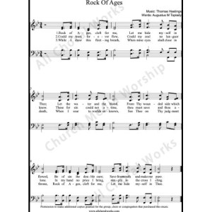 Rock of ages Sheet Music (SATB) Make unlimited copies of sheet music and the practice music.