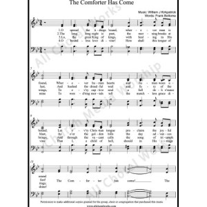 The comforter has come Sheet Music (SATB) Make unlimited copies of sheet music and the practice music.