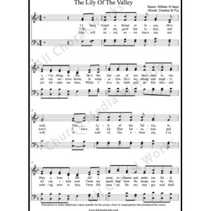 The lily of the valley Sheet Music (SATB) Make unlimited copies of sheet music and the practice music.