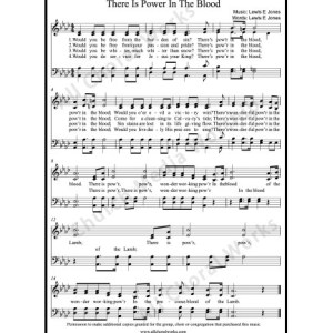 There is power in the blood Sheet Music (SATB) Make unlimited copies of sheet music and the practice music.