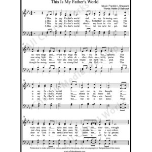 This Is My Father's World Sheet Music (SATB) Make unlimited copies of sheet music and the practice music.