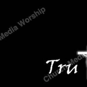 Truth White Cross Christian Worship Background. High quality worship images for use to spread the Gospel and enhance the worship experience.