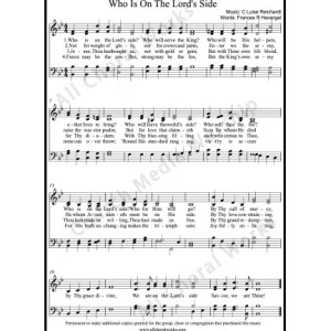 Who is on the Lords side Sheet Music (SATB) Make unlimited copies of sheet music and the practice music.