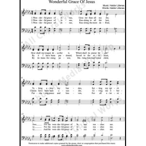 Wonderful Grace of Jesus Sheet Music (SATB) Make unlimited copies of sheet music and the practice music.